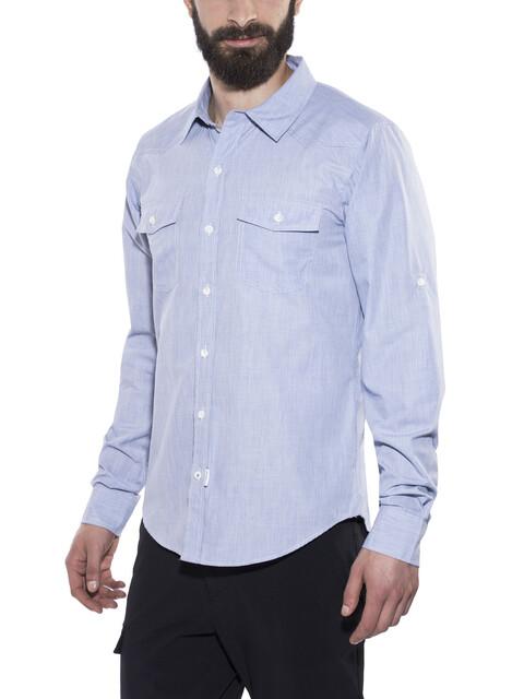 Bergans Justøy Shirt LS Men Chambray Blue
